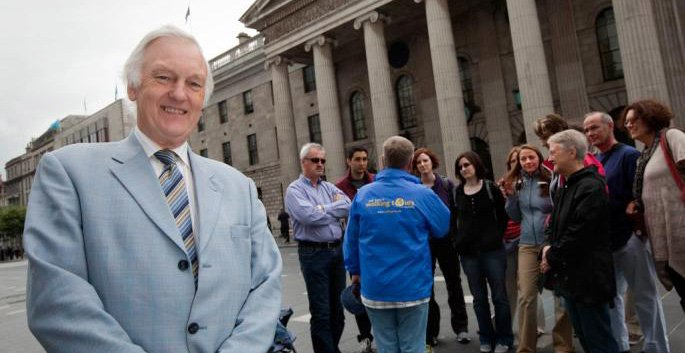Pat Liddy in front of GPO