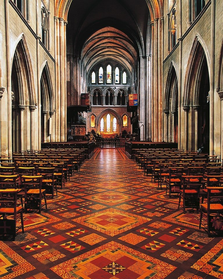 Floor tiles at St. Patrick's Cathedral