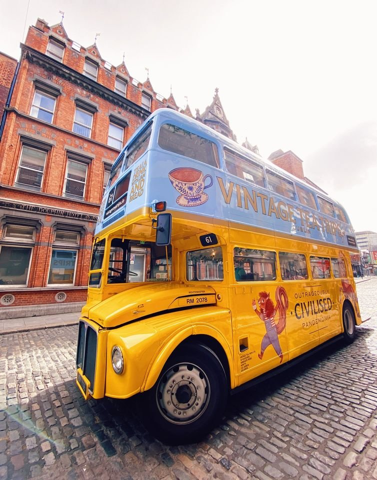 Vintage Tea Routemaster Bus in Dublin