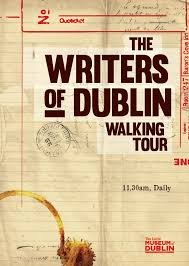 Advertisement for the Writers of Dublin Walking Tour
