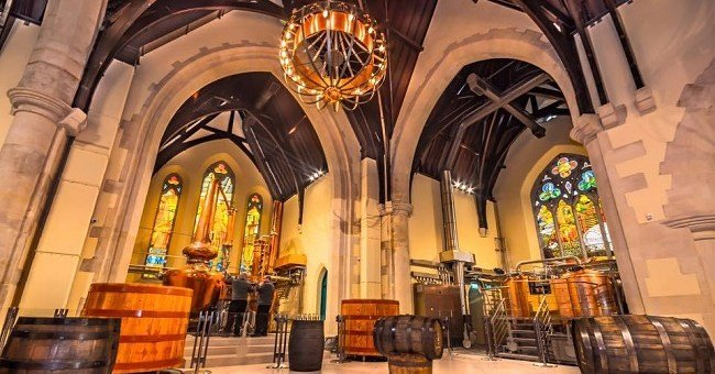 Interior of Pearse Lyons Distillery and Church